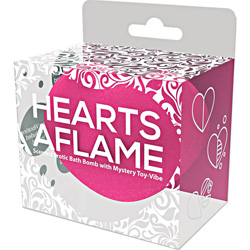 Hott Products Hearts Aflame Erotic Bath Bomb with Mystery Vibrating Toy