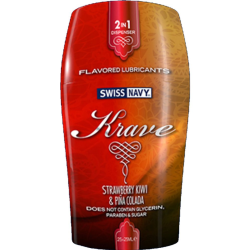Swiss Navy Krave 2in1 Flavored Lube by MD Science Lab, Strawberry Kiwi/Pina Colada, 50 mL