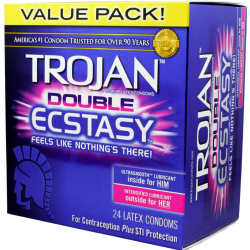 Trojan Double Ecstasy Condoms, Pack of 24