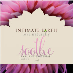 Intimate Earth Soothe Anal Anti Bacterial Glide, 0.1 fl.oz (3 mL) Foil Pack