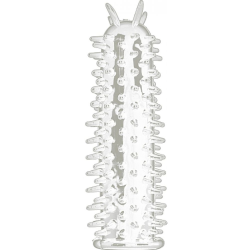 Shots Toys Spiky Penis Extension, 5 Inch, Crystal Clear