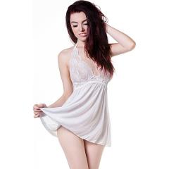 Babydoll and String White Small Medium