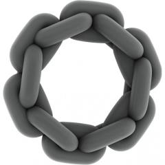 Sono No 4 Silicone Chain Cock Ring by Shots, 2.5 Inch, Grey