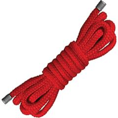 Ouch! Japanese Soft Nylon Rope by Shots, 5 Feet, Racy Red