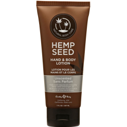 Earthly Body Hemp Seed Hand and Body Lotion, 7 Fl.Oz (207 mL), Unscented