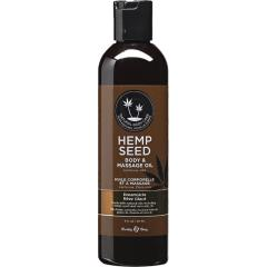 Earthly Body Hemp Seed Massage and Body Oil, 8 Fl.Oz (237 mL), Dreamsicle
