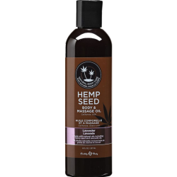 Earthly Body Hemp Seed Massage and Body Oil, 8 Fl.Oz (237 mL), Lavender