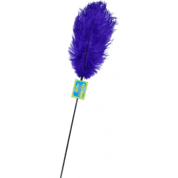 Whip Smart Feather Tickler for Kinky Lovers by Adventure Industries, Passion Blue