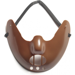 Forum Novelties Restraint Mask, One Size, Brown