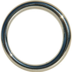 SportSheets Edge Seamless Metal O Ring Cockring, 1.5 Inch Diameter, Silver