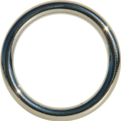 SportSheets Edge Seamless Metal O Ring Cockring, 1.75 Inch Diameter, Silver