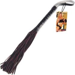 Lux Fetish Fashion Flogger 16 Inch Black