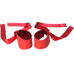 LELO Silk and Suede Etherea Silk Cuffs, Red