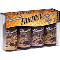 Chocolate Fantasy Body Topping Sampler 4 Pack, 1 fl.oz (30 mL) Bottles