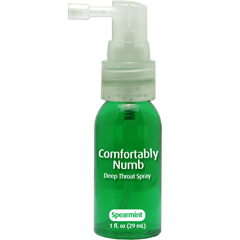Comfortably Numb Deep Throat Spray, 1 fl.oz (29 mL), Spearmint