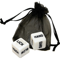 OptiSex Erotic Dice for Lovers with Storage Pouch