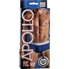 California Exotics Apollo Boxer with C-Ring, Blue, Large/Extra Large Size