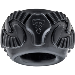 Perfect Fit Tribal Son Single Ram Penis Ring, Ice Black