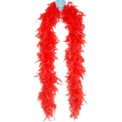 Lightweight Feather Boa - Red