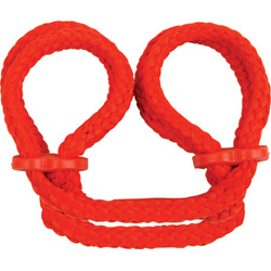 Japanese Silk Love Rope Ankle Cuffs, Red