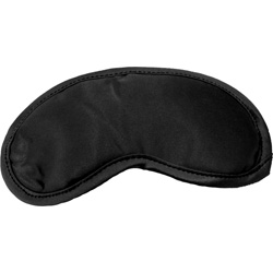 Sportsheets Sex and Mischief Satin Blindfold Eye Mask, One Size, Black