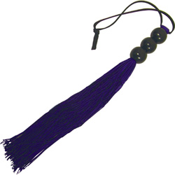 Sex and Mischief S&M Small Rubber Whip, 10 Inch, Purple