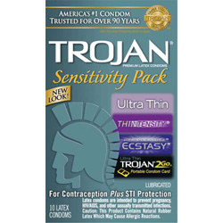 Trojan Sensitivity Pack, 10 Condoms