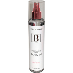 Body Boudoir Pheromone Sexy Body Oil, Strawberry, 8 fl. oz.