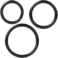 Silicone Support Rings for Men, 3 Per Pack, Black