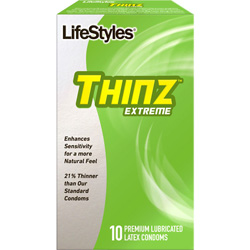 LifeStyles Thinz Extreme Lubricated Condoms, 10 Pack