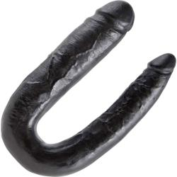 King Cock U-Shaped Large Double Trouble Dildo, Black