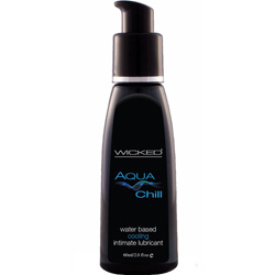 Wicked Aqua Chill Water Based Intimate Lubricant, 2 fl.oz (60 mL)