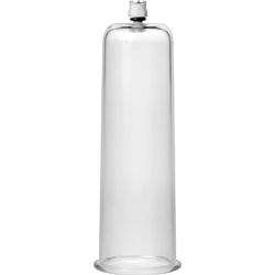 Size Matters Cock and Ball Cylinder, 2.75 Inch Diameter, Clear