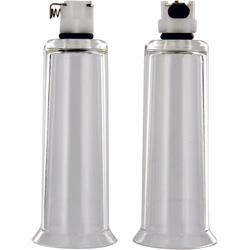 Size Matters 2 Nipple Cylinders, Medium, Clear