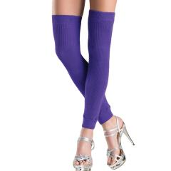Be Wicked Thigh High Leg Warmer, One Size, Purple