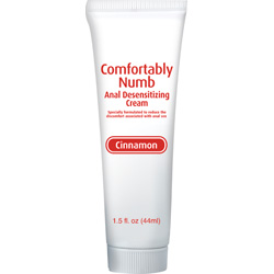 Comfortably Numb Anal Desensitizing Cream, 1.5 fl.oz (44 mL), Cinnamon