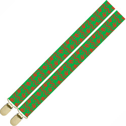 Naughty Holiday Reindeer Suspenders by Kalan, One Size, Green