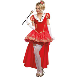 Dreamgirl the Royals Sexy French Queen Costume, Large, Red