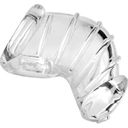Masters Detained Soft Body Chastity Cage, Clear