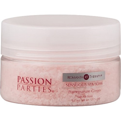 Passion Parties Romanta Therapy Sensuous Spa Soak, 9.7 Oz (275 g), Pomegranate Ginger
