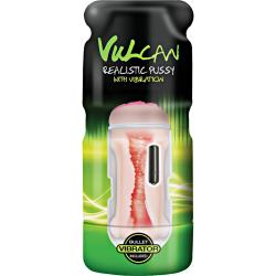 CyberSkin Vulcan Realistic Pussy Stroker with Vibrating, Cream