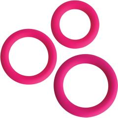 Gossip Silicone Love Ring Trio from Curve Novelties, Magenta