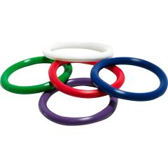 Shibari Triton Rainbow Rubber Pleasure Rings, 5 pack, Assorted Colors