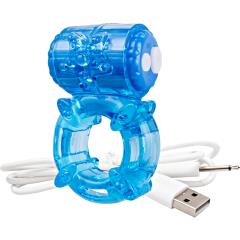 Screaming O Charged Big O Rechargeable Vibrating Cock Rings, Blue