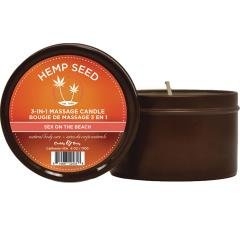 Earthly Body 3 in 1 Sun Touched Massage Candle, 6 oz (170 g), Sex on the Beach